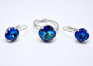 swarovski earrings blue