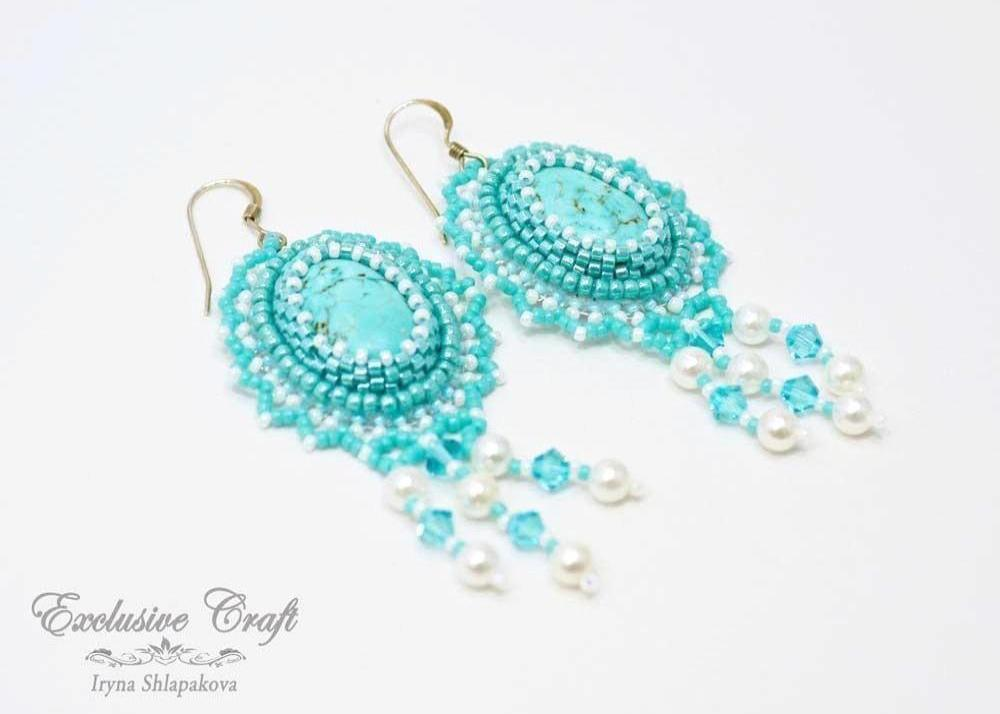 "Earrings ""Aqua Sky"""