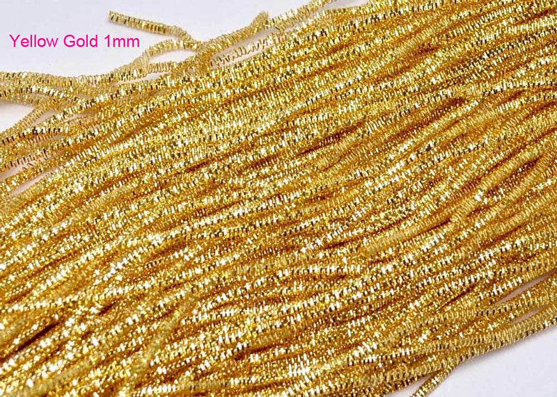 yellow gold bullion french wire 1mm
