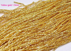yellow gold bullion french wire 1.5 mm