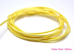 gimp french wire 1.25mm yellow gold