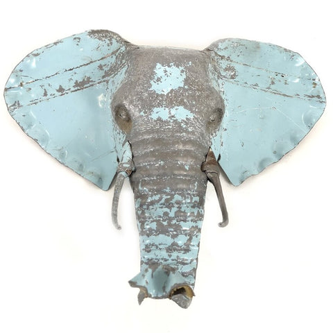 Elephant Rustic Metal Wall Art