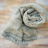 Grey handloomed cotton scarf