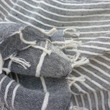 Judith Cotton Wrap, in Grey - Soava