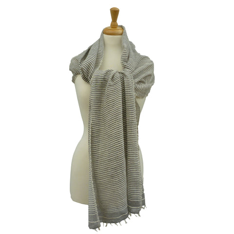 Judith Cotton Scarf, in Grey
