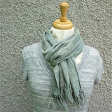 Grey Wild Silk Scarf