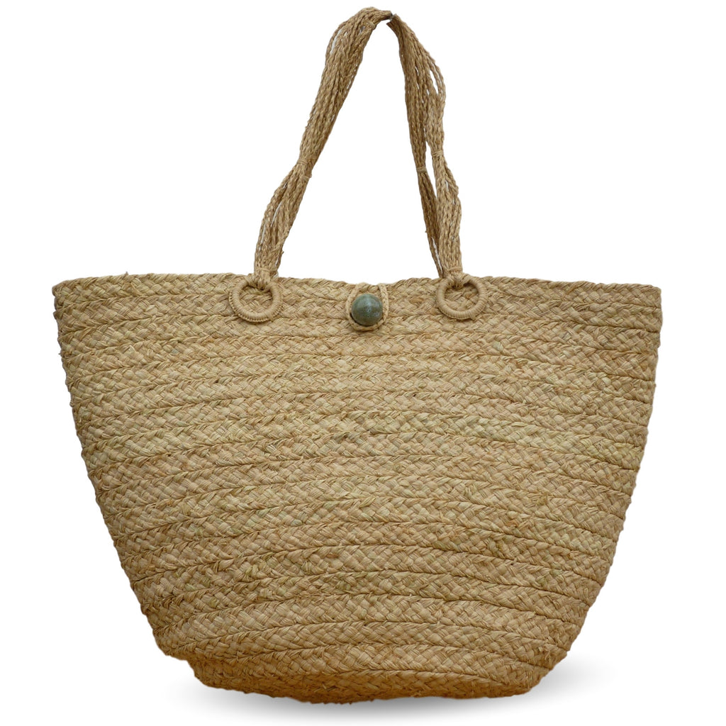 Natural Raffia Bag Made of Braided Raffia Straw - Soava
