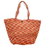 Malaika Red Straw Bag - Soava