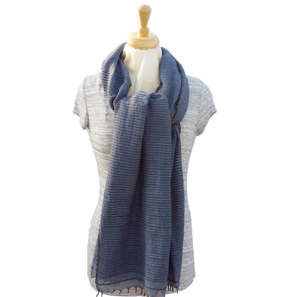 Judith Cotton Wrap, in Navy Blue - Soava