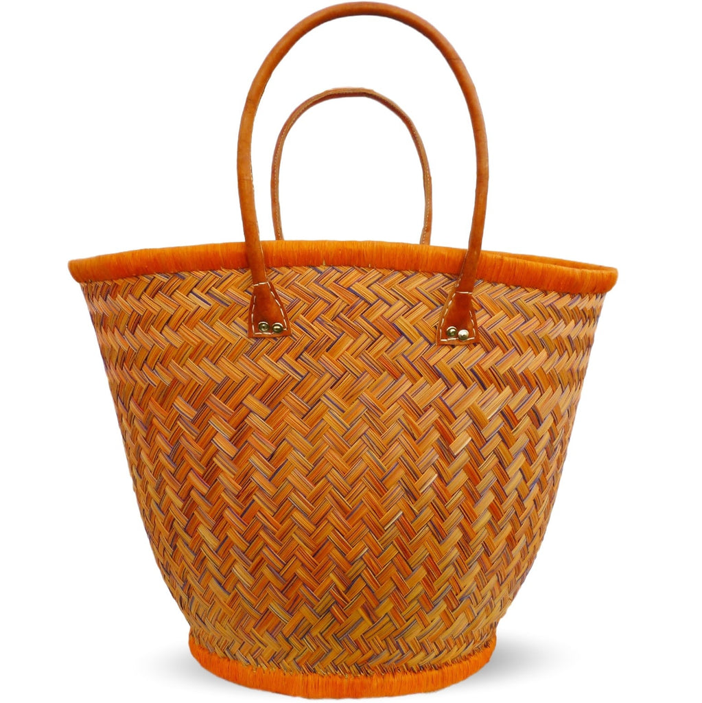 JULIE, Oval Straw Tote - Soava