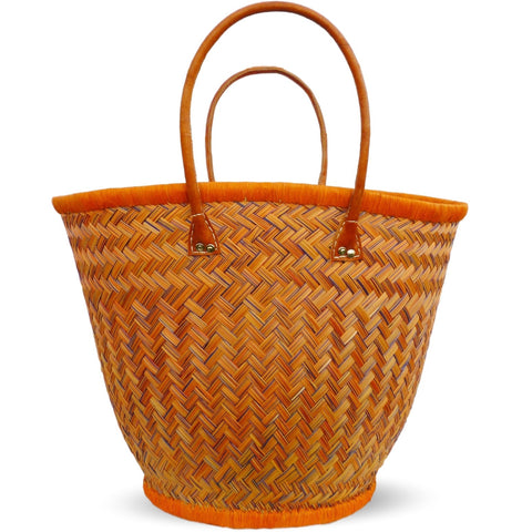 JULIE, Oval Straw Tote