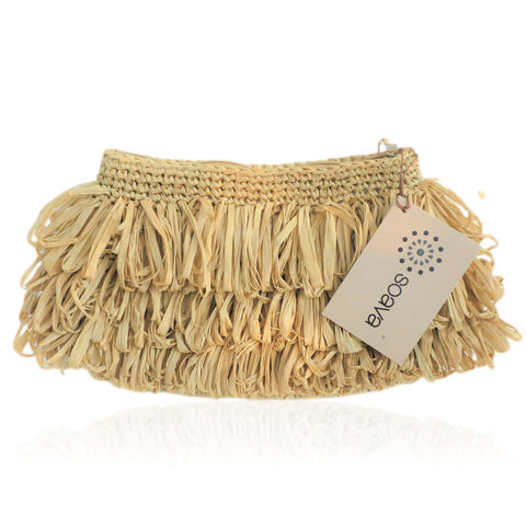Nora Raffia Clutch Bag