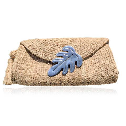 Seychelles Raffia Clutch Bag (Natural)