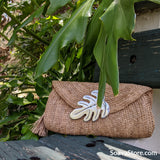 Seychelles Raffia Clutch Bag
