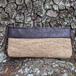 Raffia Wristlet Clutch Bag