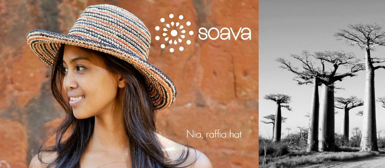 Soava handcrafted raffiat hats