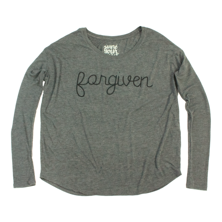 Forgiven Women's Long Sleeve Flowy T-Shirt