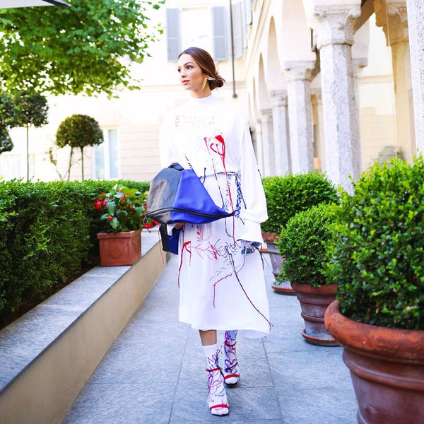 Ione Omena with our Kite Bag from Maria/Maleta by Pedro Pedro Collection