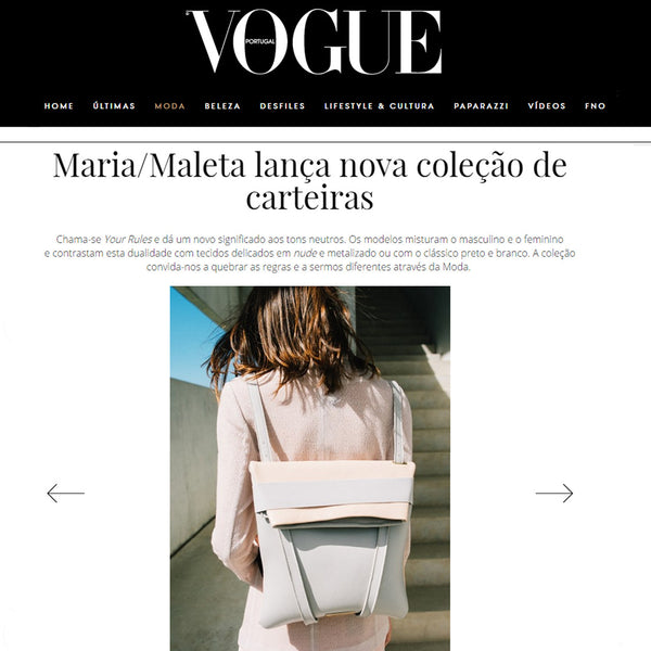 Maria Maleta at Vogue Portugal