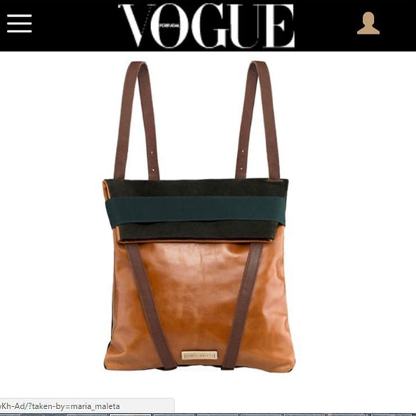 vogue backpack suede