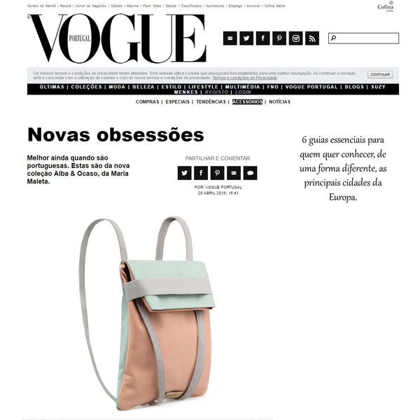 vogue backpack collection