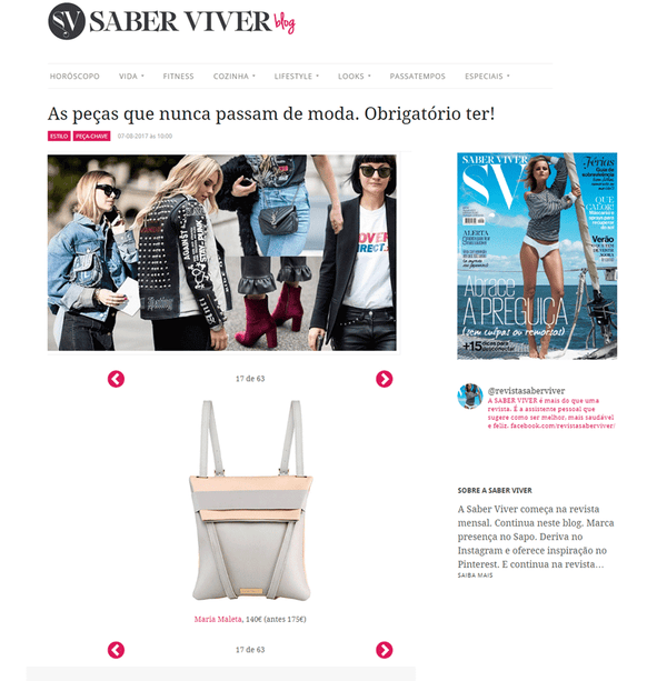 Designs that never go out of Style @ Revista Saber Viver