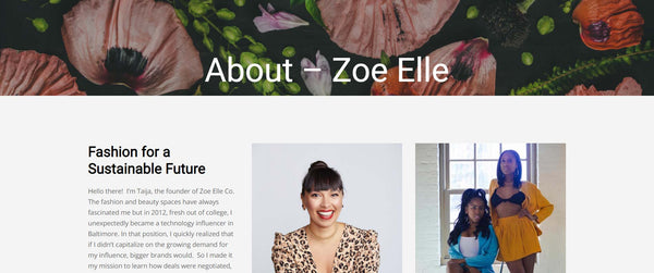 zoe elle sustainable fashion blog