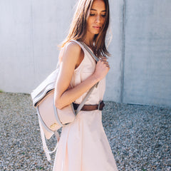 backpack woman blush color