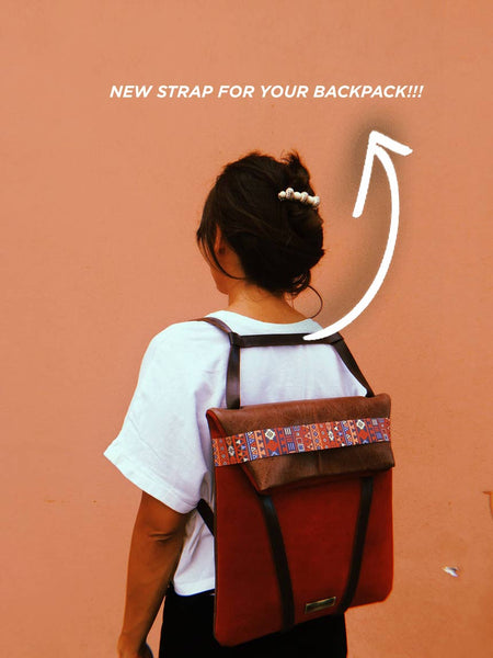 backpack strap woman