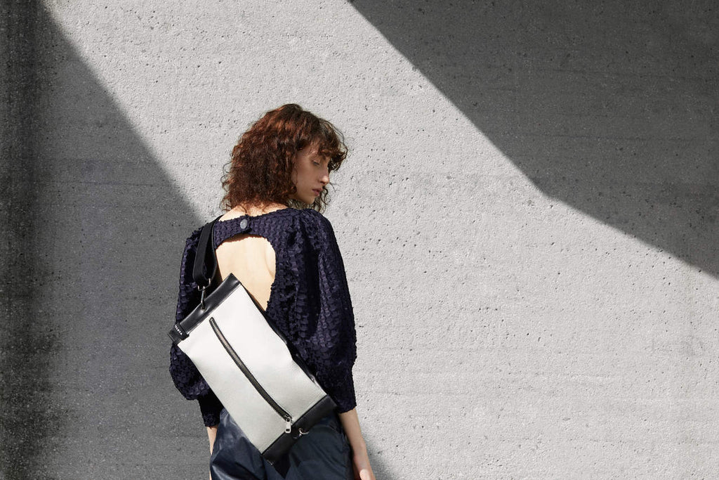 sustainable bags in leather brand