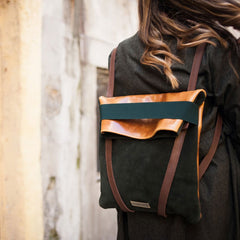 backpack-green-suede-camel-leather