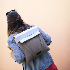 backpack-suede-grey CASUAL BLUE SOFT WOMAN