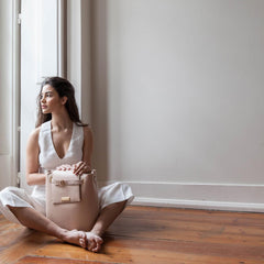 bucket bag pale pink women