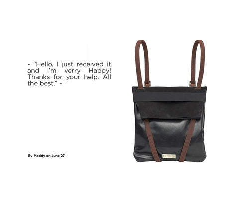 reviews leather backpack brand