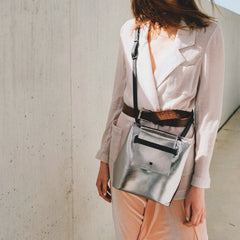 crossbody metallic bag