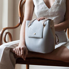 grey small handbag delicated pale colors