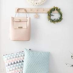 shoulder bag blush color