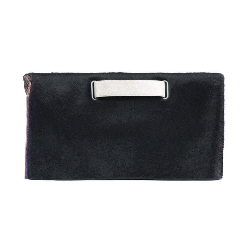 black fur clutch bag