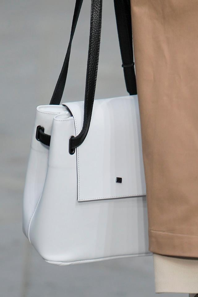 white bag black straps