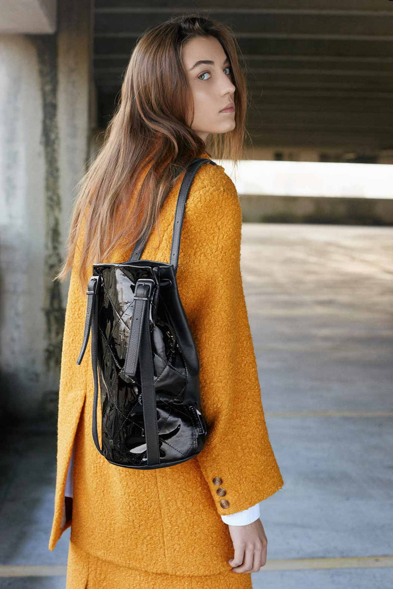 BACKPACK-BLACK-PATENT-BAG-women