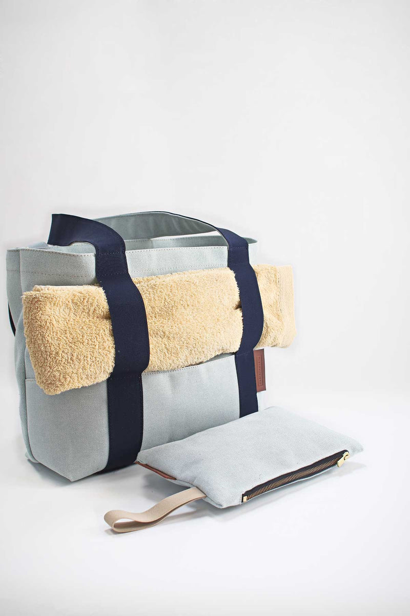 Large Beach Bag with towel holder