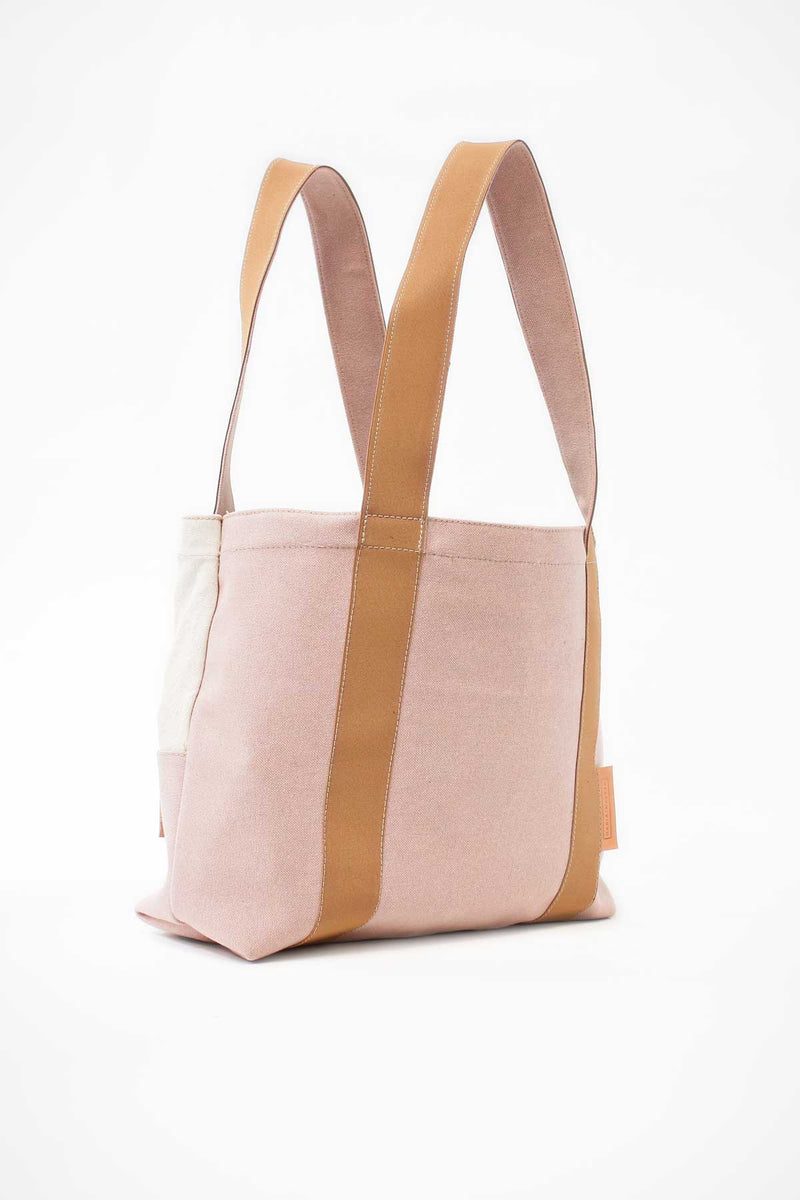 Beach bag cream soft pink