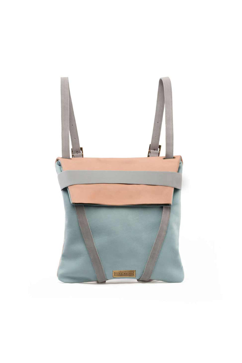 Backpack-Leather-light-blue