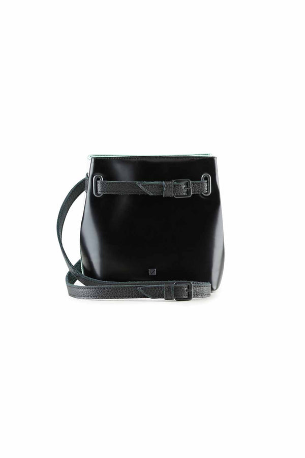 bum bag black leather women