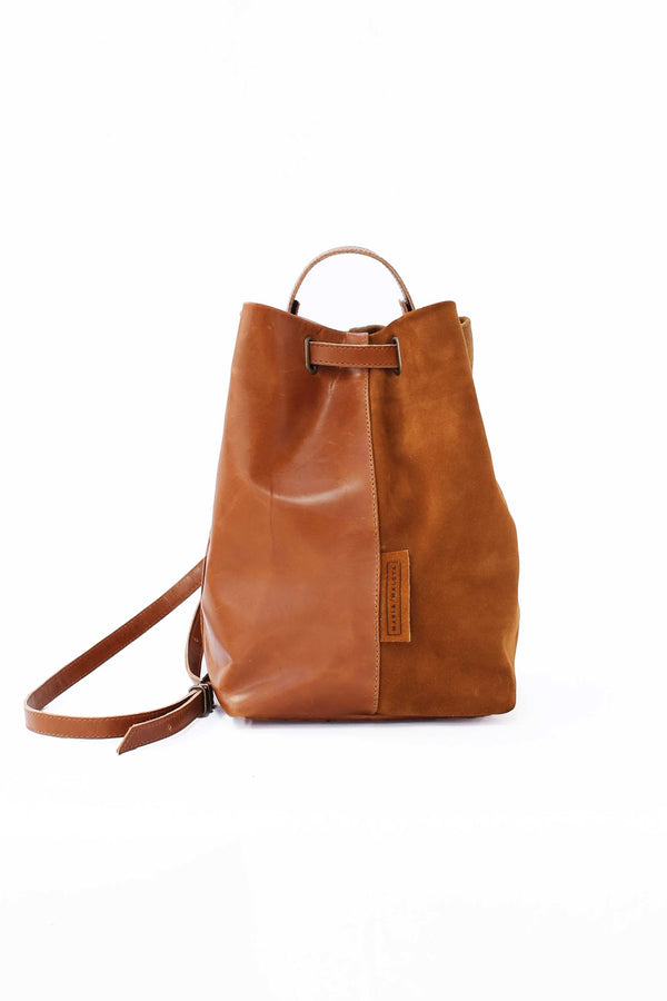 different tones of brown leather bag