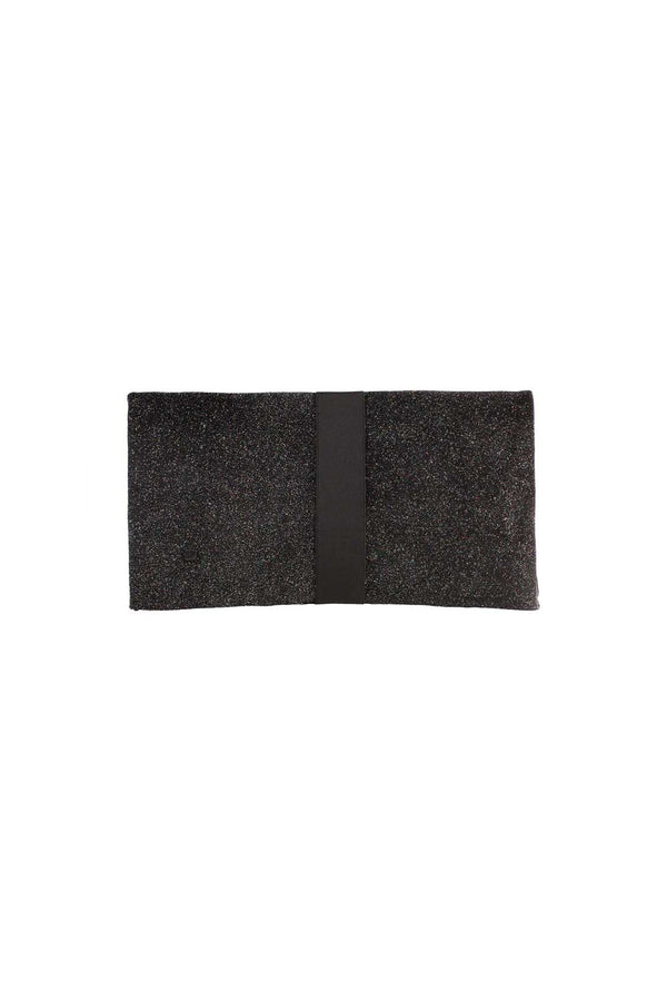 black clutch bag in glitter