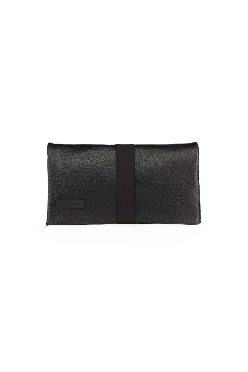 clutch bag in black leather
