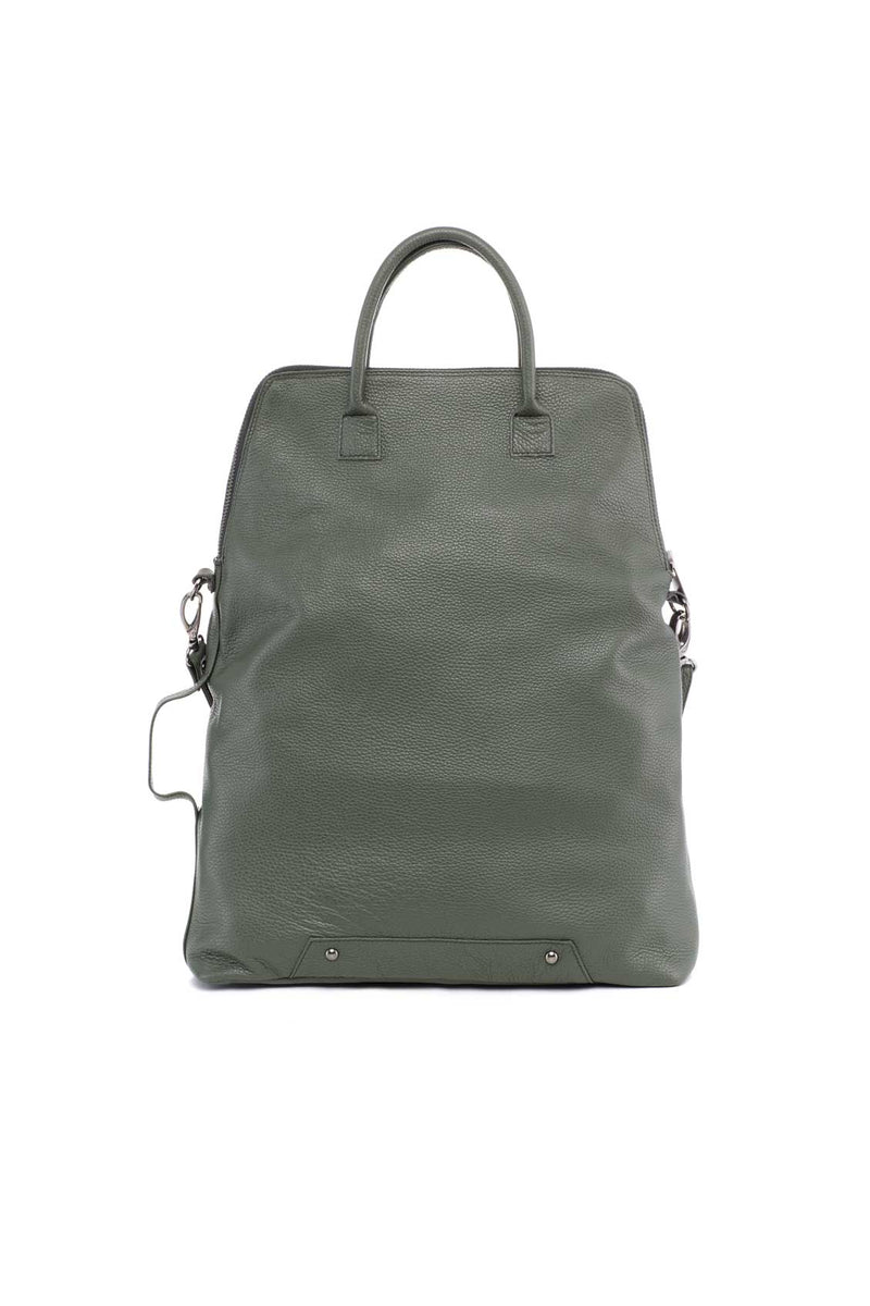 handbag for mens in leather green