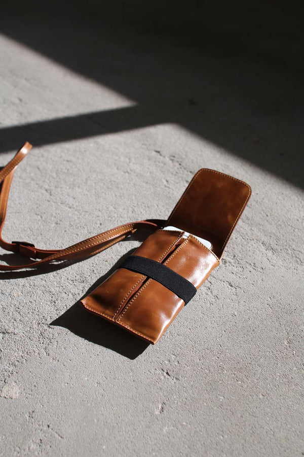 Phone-bag--brown-leather