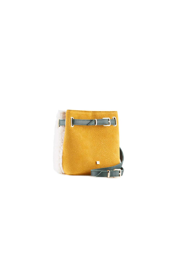 design belt bag yellow leather women's